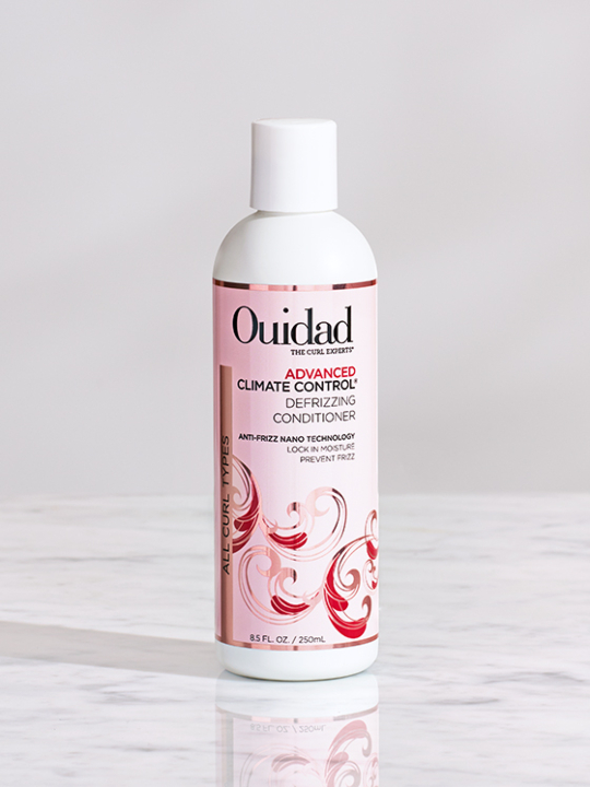Buy the Ouidad climate Control conditioner for frizzy hair, Advanced climate control defrizzing shampoo.