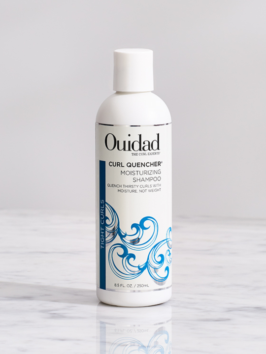 Buy cleansing products for tight curls, Ouidad Curl Quencher Moisturizing Shampoo.