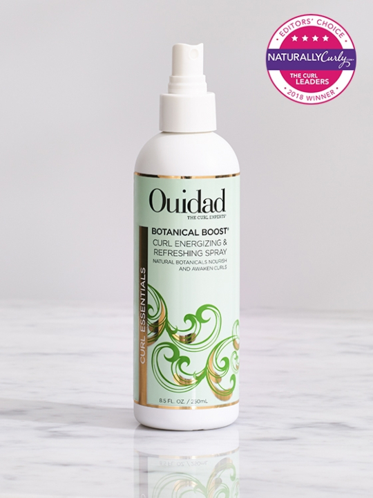 Buy curl refreshing products for rejuvenated curly hair, Ouidad Botanical Boost Curl Energizing and Refreshing Spray.